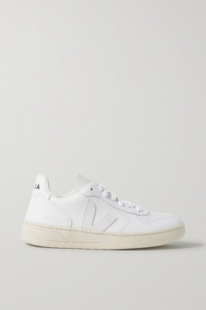White + NET SUSTAIN V-10 leather sneakers | Veja | NET-A-PORTER