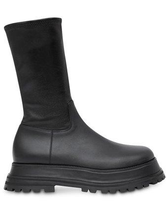Burberry zip-up calf-length Boots - Farfetch