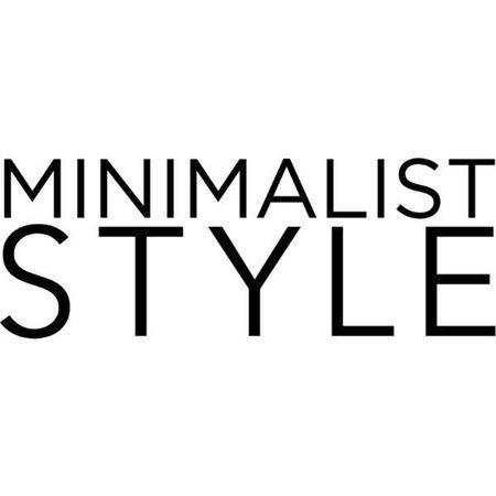 minimalist style text