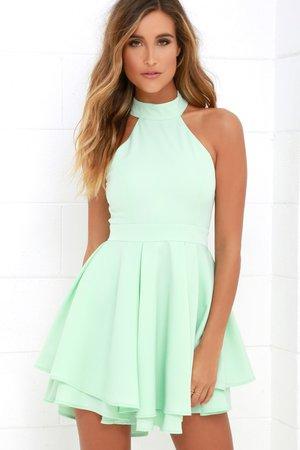 Dress Rehearsal Mint Green Skater Dress
