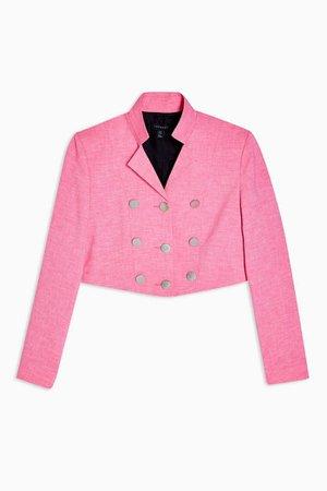 IDOL Pink Cropped Blazer | Topshop