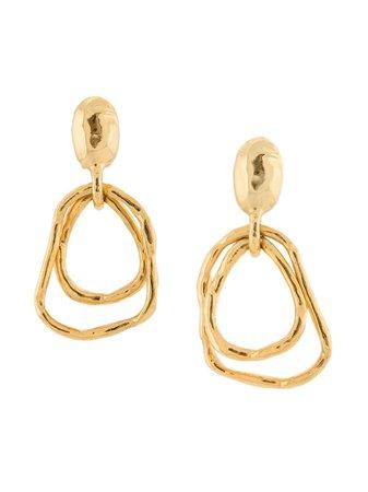 Oscar De La Renta Hammered Earrings | Farfetch.com
