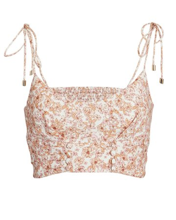 Significant Other Maria Sleeveless Floral Crop Top | INTERMIX®
