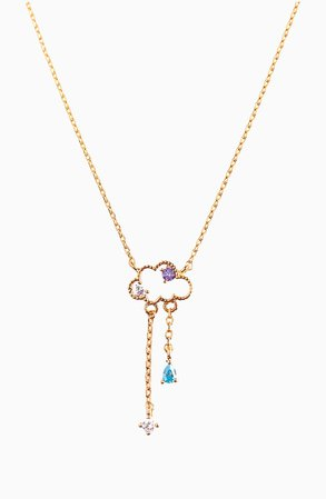 Girls Crew Reigning Clouds Pendant Necklace | Nordstrom