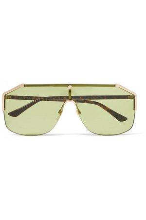 Gucci | Aviator-style gold-tone sunglasses | NET-A-PORTER.COM