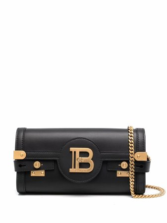 Shop black Balmain B-Buzz 23 clutch bag with Express Delivery - Farfetch