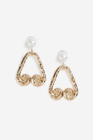 **Pearl And Scroll Drop Earrings | Topshop