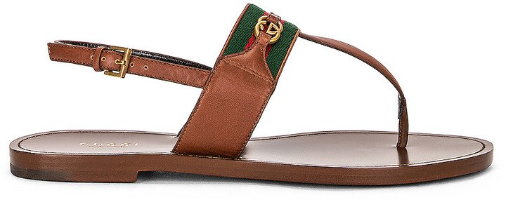 Siryo Thong Sandals in Light Ebony | FWRD