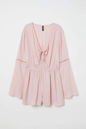 Jumpsuit with Knot Detail - Pink