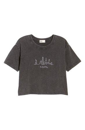 Urban Nation New York Embroidered Crop T-Shirt