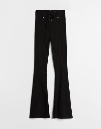 Flared pants with bow - Pants - Woman | Bershka
