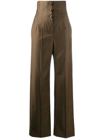 Materiel, high-waist Buttoned Trousers Pants