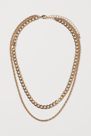Two-strand necklace - Gold-coloured - Ladies | H&M GB
