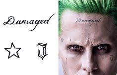 joker face tattoo damaged - Google Search