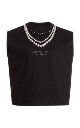Jersey Jewel Neck Top By Giambattista Valli | Moda Operandi