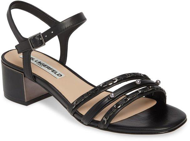 Tori Imitation Pearl Sandal