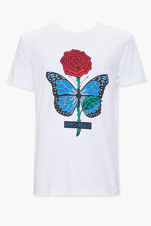 Rose Butterfly Graphic Tee | Forever 21