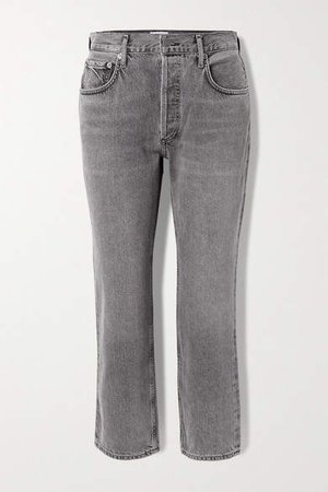 Agolde AGOLDE - Ripley Mid-rise Straight-leg Jeans - Anthracite