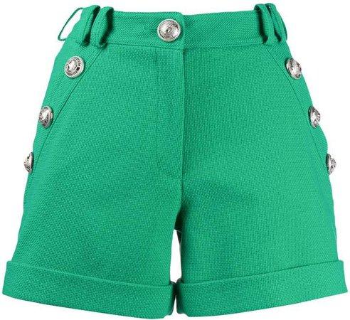 decorative button shorts