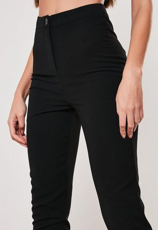 Tall Black Co Ord Cigarette Pants | Missguided