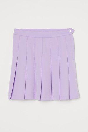 Pleated skirt - Light purple - Ladies | H&M GB