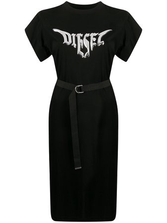 Diesel Logo T-shirt Dress - Farfetch