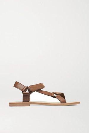 Sportsu Leather Sandals - Tan