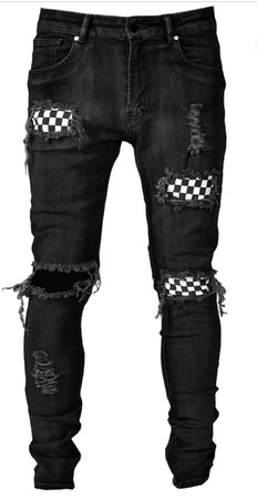 lakenzie jeans black and checkered
