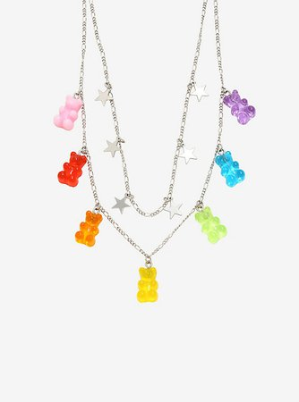 Candy Bear Star Layered Necklace