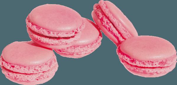 Pile of Pink Macarons