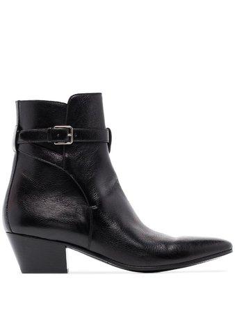 Saint Laurent West Jodhpur Ankle Boots - Farfetch