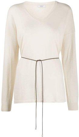 cotton v-neck sweatshirt
