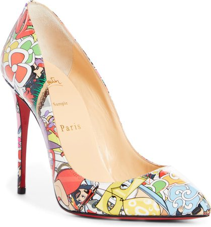 Christian Louboutin Pigalle Follies Print Pointed Toe Pump (Women) | Nordstrom