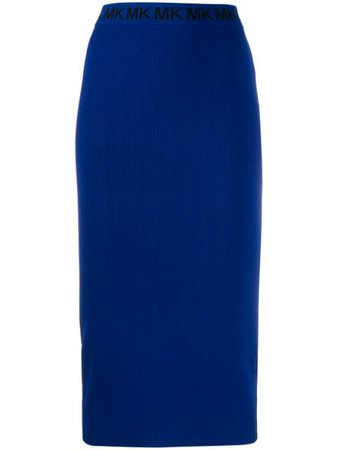 Michael Michael Kors Fitted Midi Skirt MF97F1LBVC Blue | Farfetch
