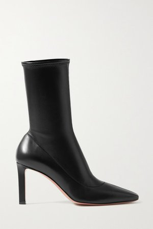 Hannah Leather Ankle Boots - Black