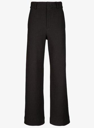 high waist struc wide leg