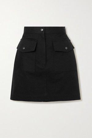 Cotton-twill Mini Skirt - Navy