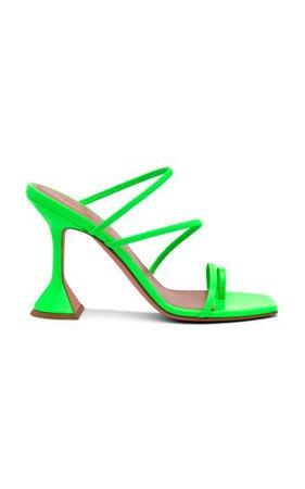 Naima Leather Sandals By Amina Muaddi | Moda Operandi