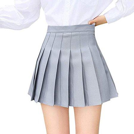 Amazon.com: Easisim Women's Girls Pleated Skirt High Waist Japan School Uniform A-Line Skirts with Lining: Clothing