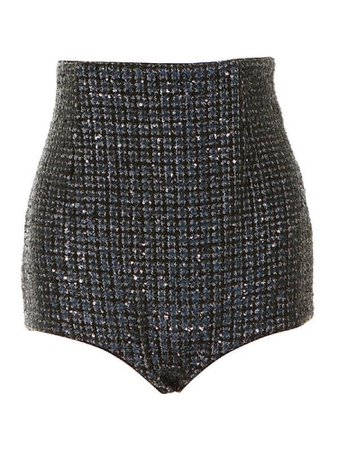 High waisted black diamond shorts