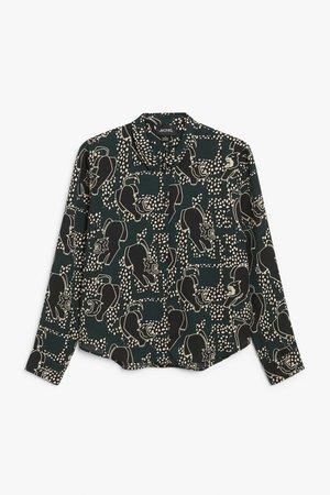 Classic blouse - Black - Shirts & Blouses - Monki