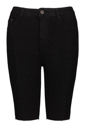 Longline Denim Shorts | boohoo