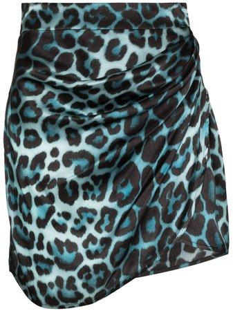 Shop blue GAUGE81 Sendai leopard print mini skirt with Express Delivery - Farfetch