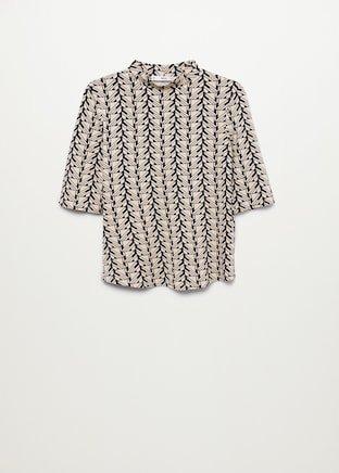 Geometric print t-shirt - Women | Mango USA