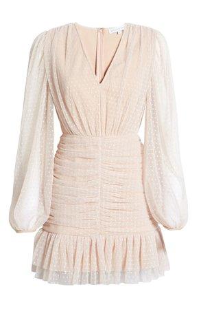 Endless Rose Swiss Dot Long Sleeve Minidress | Nordstrom