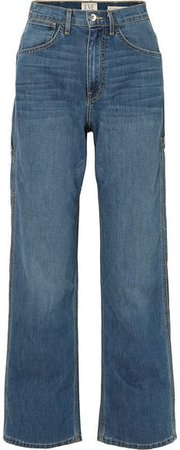 EVE Denim - Carolyn High-rise Straight-leg Jeans - Mid denim