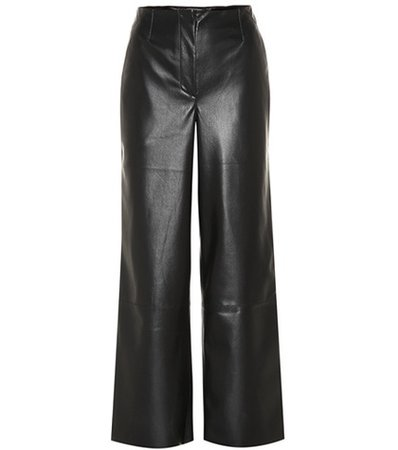 Africa faux leather pants