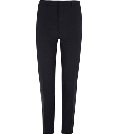 Navy slim fit smart trousers - Smart Trousers - Trousers - men