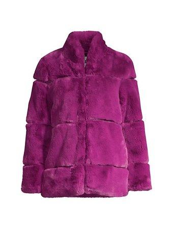 Apparis Sarah Tiered Faux Fur Short Coat   SaksFifthAvenue