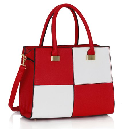 Red And White Handbag